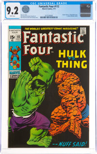 Fantastic Four #112 (Marvel, 1971) CGC NM- 9.2 White pages