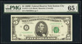 Small Size:Federal Reserve Notes, Fr. 1971-J $5 1969B Federal Reserve Note. PMG Gem Uncircul...