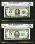 Small Size:Federal Reserve Notes, Fr. 2154-G/2155-G $100 1934B/1934C Federal Reserve Notes. ...