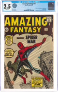 Silver Age (1956-1969):Superhero, Amazing Fantasy #15 (Marvel, 1962) CGC GD+ 2.5 White pages....