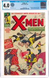 X-Men #1 (Marvel, 1963) CGC VG 4.0 White pages
