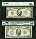 Small Size:Federal Reserve Notes, Fr. 2005-I/2006-I $10 1934 Dark Green Seal Mule/1934A Fede...