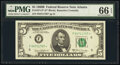 Small Size:Federal Reserve Notes, Fr. 1971-F* $5 1969B Federal Reserve Star Note. PMG Gem Un...