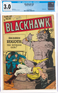 Blackhawk #20 (Quality, 1948) CGC GD/VG 3.0 Cream to off-white pages