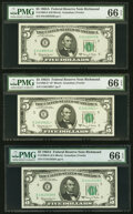 Small Size:Federal Reserve Notes, Fr. 1968-E (2); E* $5 1963A Federal Reserve Notes. PMG Gem...