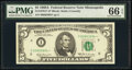 Small Size:Federal Reserve Notes, Fr. 1970-I* $5 1969A Federal Reserve Star Note. PMG Gem Un...