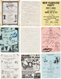 Prints & Multiples, Buddy Esquire (American, d. 2014) and Various Artists (20th Century). Group of Seventeen Early Hip-Hop Event Fliers, cir...
