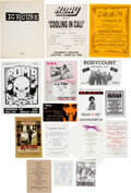 Works on Paper, Various Artists (20th Century). Group of Sixteen Pieces of West Coast Hip-Hop Ephemera, circa 1995. Paper. 11-1/4 x 8-1/...