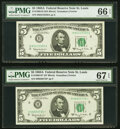 Small Size:Federal Reserve Notes, Fr. 1968-H; H* $5 1963A Federal Reserve Notes. PMG Graded ...