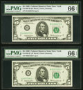 Small Size:Federal Reserve Notes, Fr. 1969-B; B* $5 1969 Federal Reserve Notes. PMG Gem Unci...