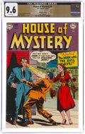 Golden Age (1938-1955):Horror, House of Mystery #4 White Mountain Pedigree (DC, 1952) CGC NM+ 9.6 White pages....
