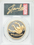 2017 $200 Spider-Man Homecoming Black Proof, First Day of Issue, Stan Lee Signature, PR70 Deep Cameo PCGS. ...(PCGS# 627...