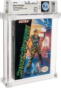 Snake's Revenge - Wata 9.6 A+ Sealed [Oval SOQ TM, Early Production] (Hawaii Collection), NES Ultra 1990 USA