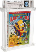 Video Games:Nintendo, The Simpsons: Bart vs. the World - Wata 9.8 A++ Sealed, NES Acclaim 1991 USA....