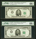 Small Size:Federal Reserve Notes, Fr. 1968-A; A* $5 1963A Federal Reserve Notes. PMG Gem Unc...