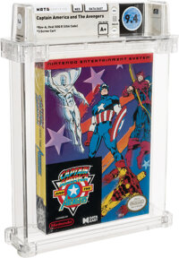 Captain America and the Avengers - Wata 9.4 A+ Sealed [Oval SOQ R], NES Data East 1991 USA