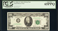 Small Size:Federal Reserve Notes, Fr. 2068-G* $20 1969A Federal Reserve Star Note. PCGS Gem ...