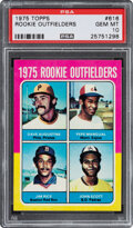 Baseball Cards:Singles (1970-Now), 1975 Topps Jim Rice - Rookie Outfielders #616 PSA Gem Mint 10....