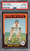 Baseball Cards:Singles (1970-Now), 1975 Topps Robin Yount #223 PSA Gem Mint 10. The ...
