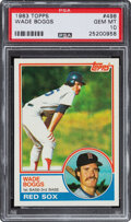 Baseball Cards:Singles (1970-Now), 1983 Topps Wade Boggs #498 PSA Gem Mint 10. Offere...