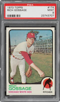 Baseball Cards:Singles (1970-Now), 1973 Topps Rich Gossage #174 PSA Mint 9. Goose Gos...