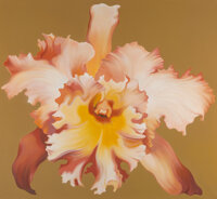 Lowell Nesbitt (1933-1993) Orchid on Gold, 1972 Oil on canvas 60 x 64 inches (152.4 x 162.6 cm)