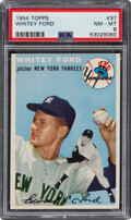 Baseball Cards:Singles (1950-1959), 1954 Topps Whitey Ford #37 PSA NM-MT 8. Offered is...