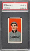 Baseball Cards:Singles (Pre-1930), 1909-11 T206 Piedmont 350 Ted Easterly PSA EX-MT 6. ...