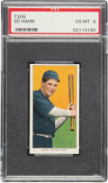 Baseball Cards:Singles (Pre-1930), 1909-11 T206 Sweet Caporal 150/30 Ed Hahn PSA EX-MT 6 - Pop One, One Higher for Brand/Series/Factory. ...