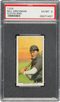 Baseball Cards:Singles (Pre-1930), 1909-11 T206 Old Mill Bill Hinchman (Cleveland) PSA EX-MT 6 - Pop One, One Higher for Brand. ...