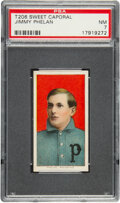 Baseball Cards:Singles (Pre-1930), 1909-11 T206 Sweet Caporal 350/30 Jimmy Phelan PSA NM 7 - Pop One, Only One Higher for Brand. ...