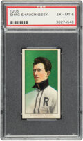 Baseball Cards:Singles (Pre-1930), 1909-11 T206 Piedmont 350 Shag Shaughnessy PSA EX-MT 6 - Only Two Higher for Brand/Series. ...