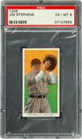 Baseball Cards:Singles (Pre-1930), 1909-11 T206 Old Mill Jim Stephens PSA EX-MT 6 - Pop One, None Higher for Brand. ...