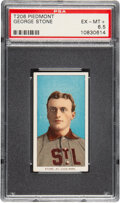 Baseball Cards:Singles (Pre-1930), 1909-11 T206 Piedmont 150 George Stone PSA EX-MT+ 6.5 - Pop Two, Only One Higher for Brand. ...