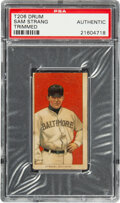 Baseball Cards:Singles (Pre-1930), 1909-11 T206 Drum Sam Strang PSA Authentic - The Only PSA-Graded Example! ...