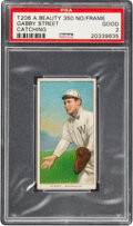 Baseball Cards:Singles (Pre-1930), 1909-11 T206 American Beauty 350 (Without Frame) Gabby Street (Catching) PSA Good 2 - Only Nine PSA-Graded Examples. ...