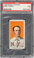 Baseball Cards:Singles (Pre-1930), 1909-11 T206 Sweet Caporal 150/25 Fred Tenney PSA NM 7 - Pop One, None Higher for Brand/Series/Factory. ...
