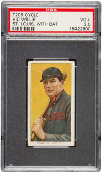 1909-11 T206 Cycle 460 Vic Willis (With Bat) PSA VG+ 3.5 - Pop Two, Two Higher for Brand
