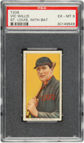 Baseball Cards:Singles (Pre-1930), 1909-11 T206 Sweet Caporal 350/30 Vic Willis (With Bat) PSA EX-MT 6. ...
