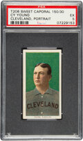 Baseball Cards:Singles (Pre-1930), 1909-11 T206 Sweet Caporal 150/30 Cy Young (Portrait) PSA EX 5 - Pop One, One Higher for Brand/Series/Factory. ...