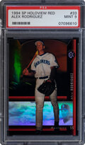 Baseball Cards:Singles (1970-Now), 1994 SP Alex Rodriguez (Holoview Red) #33 PSA Mint 9.