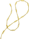 Estate Jewelry:Necklaces, Pasino Gold Necklace Metal: 18k gold Marke...