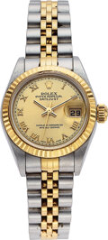 Estate Jewelry:Watches, Rolex Gold, Stainless Steel Oyster Perpetual Datejust Watch. ...
