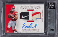 Football Cards:Singles (1970-Now), 2017 Panini National Treasures Patrick Mahomes II (NFL Gear Dual Material Signatures Laundry Tag Brand Logo) #18 BGS Mint 9, A...