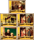 """Movie Posters:Action, Superman and the Mole Men (Lippert, 1951). Very Fine-. Lobby Cards (5) (11"""" X 14"""").. ... (Total: 5 Items)"""