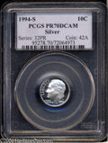 Proof Roosevelt Dimes: , 1994-S 10C Silver PR70 Deep Cameo PCGS. Brilliant and ...