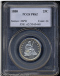 Proof Seated Quarters: , 1880 25C PR62 PCGS. Only 14,955 pieces were struck, of ...