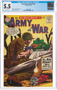 Our Army at War #102 (DC, 1961) CGC FN- 5.5 Off-white pages