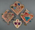 American Indian Art:Beadwork and Quillwork, Four Iroquois Beaded Cloth Whimsies... (Total: 4 )
