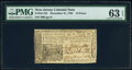 Colonial Notes:New Jersey, New Jersey December 31, 1763 18d PMG Choice Uncirculated 6...